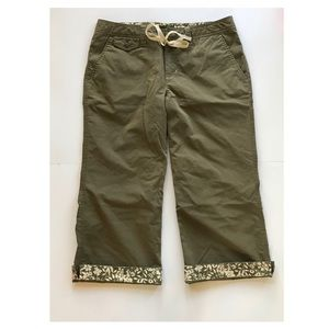 Eddie Bauer Women's Cropped Capri Pants size 6P